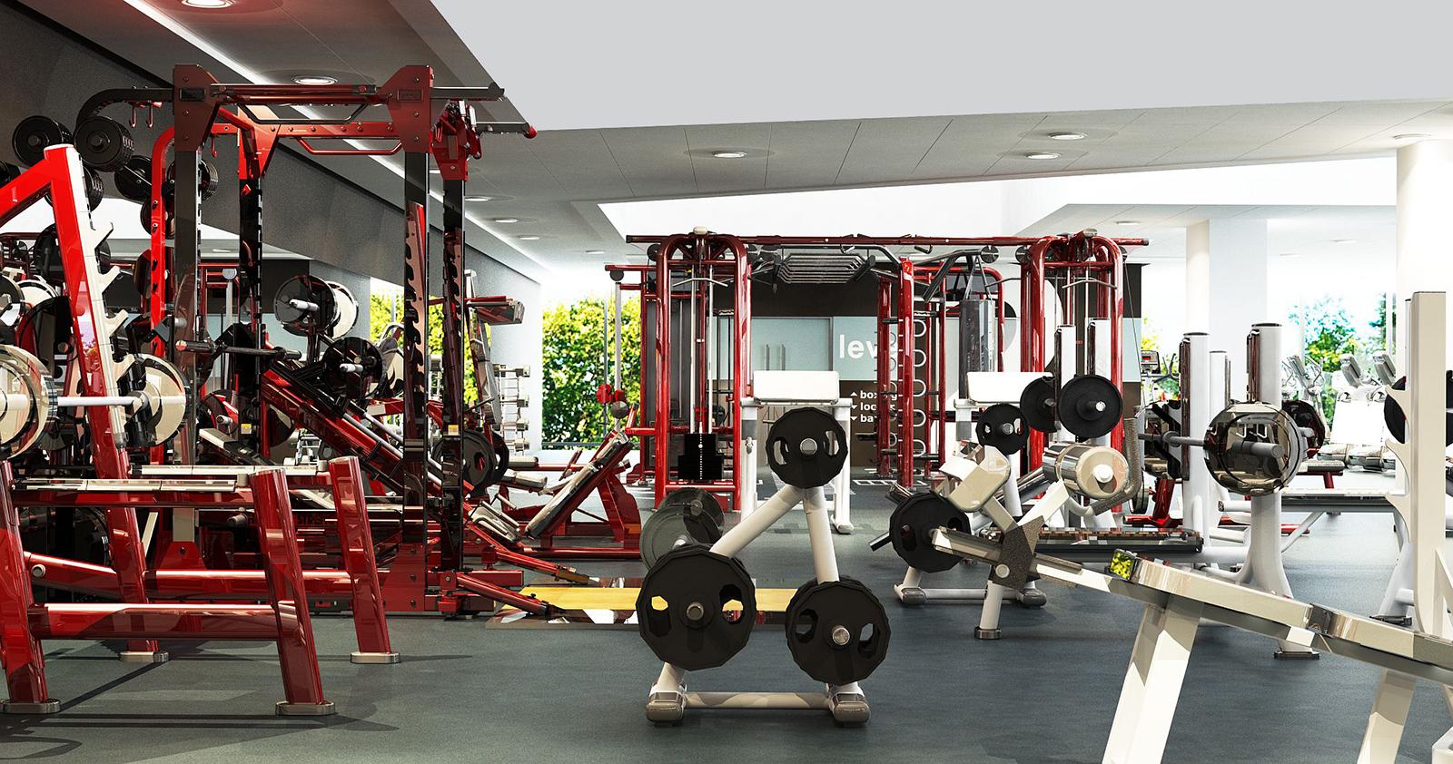 Фитнес-клуб Kinext: тренажерный зал