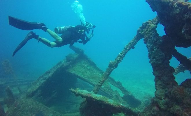 дайвинг дайвер подводные сокровища