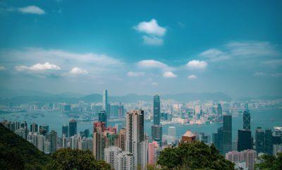 Город Здание Вид На Город Гонконг Небо