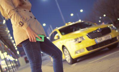 Такси Кабина Желтый Женщина Люди