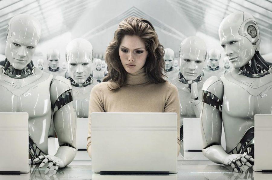 технология девушка роботы