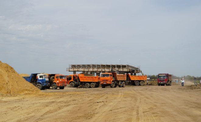 850 тысяч кубометров песка отсыпано на строительстве Дальнего западного обхода Краснодара